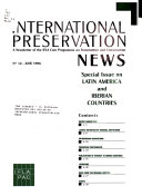 International Preservation News