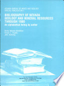 SP007  Bibliography of Nevada geology and mineral resources through 1980  an alphabetical listing by author