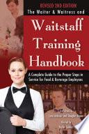 The Waiter   Waitress and Waitstaff Training Handbook