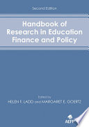 Handbook of Research in Education Finance and Policy