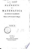 Elementi di matematica di Enrico Giamboni professore nell'Universita di Perugia. Tom. 1 [-2]