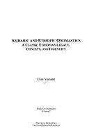 Amharic and Ethiopic Onomastics