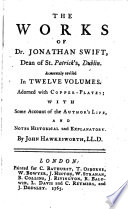 The Works of Dr  Jonathan Swift