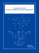 Fundamentals of Analog and Digital Signal Processing