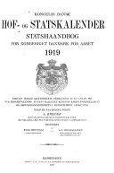 Kongelig dansk hof- og statskalender, statshaandbog for kongeriget Danmark