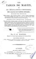 Le table de Martin  ou Le r  gulateur universel des calculs en parties doubles  ouvrage par invention