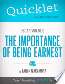 Quicklet On Oscar Wilde s The Importance of Being Earnest