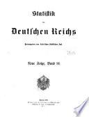 Statistik des Deutschen Reichs