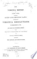 The Virginia Report Of 1799 1800