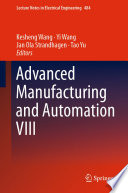 Advanced Manufacturing and Automation VIII Book PDF