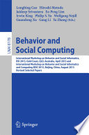 Behavior and Social Computing