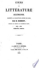 Cours de littérature allemande