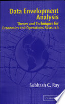 Data envelopment analysis: theory and techniques for economics and  ... By Subhash C. Ray