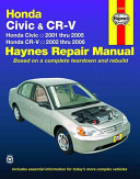 Honda Civic and CR V Automotive Repair Manual