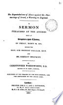 The expostulations of Moses against the murmurings of Israel  a warning to England  a sermon