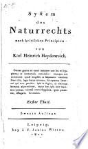 System des Naturrechts nach kritischen Prinzipien