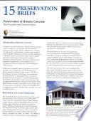 Preservation Of Historic Concrete