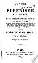 Manuel du fleuriste artificiel... suivi de l'art du plumassier