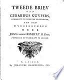Tweede briev van Gerardus Kuypers ... aan ... Joan vanden Honert, T. H. Zoon ....