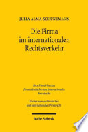 Die Firma im internationalen Rechtsverkehr