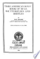 The American boys  book of bugs  butterflies and beetles