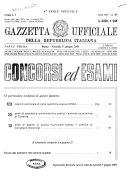 Gazzetta ufficiale della Repubblica italiana  Parte prima  4  serie speciale  Concorsi ed esami