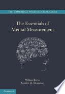 The Essentials of Mental Measurement