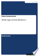 Mobile Apps Auf Dem Blackberry