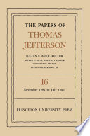 The Papers Of Thomas Jefferson Volume 16