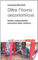 Oltre l homo oeconomicus
