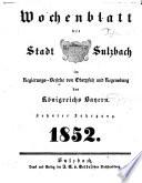 Wochenblatt der Stadt Sulzbach im Regierungs-Bezirke von Oberpfalz und Regensburg des Königreichs Bayern