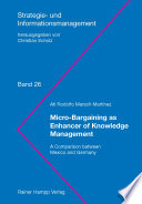 Micro Bargaining as Enhancer of Knowledge Management