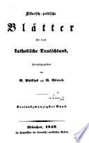 Historisch-Politische Blätter für das Katholische Deutschland