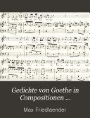Gedichte von Goethe in Compositionen