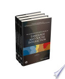 The International Encyclopedia of Language and Social Interaction  3 Volume Set