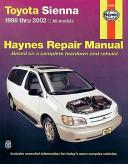 Haynes Toyota Sienna 1998 Thru 2002