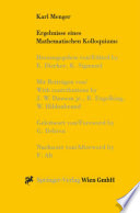 Karl Menger, Ergebnisse eines Mathematischen Kolloquiums