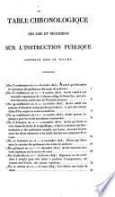 Recueil de lois et règlemens concernant l'instruction publique