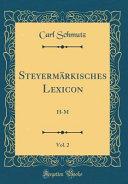 Steyermärkisches Lexicon, Vol. 2