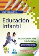 Cuerpo de Maestros  Programaci  n Did  ctica  Educacion Infantil e book