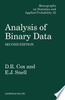 Analysis of Binary Data  Second Edition