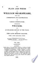 The Plays and Poems of William Shakspeare: Cymbeline. Timon of Athens