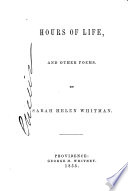 Hours of life  and other poems