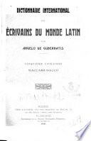 Dictionnaire international des ecrivains du monde latin