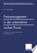 Preismanagement in der unternehmerischen Praxis
