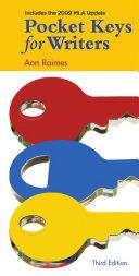 Pocket Keys for Writers  2009 MLA Update Edition