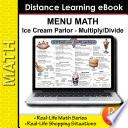 Menu Math  Old Fashioned Ice Cream Parlor  x