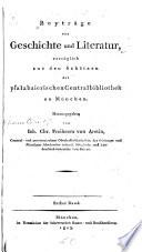 Beyträge zur Geschichte und Literatur