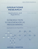 Solutions Manual: Operations Research
