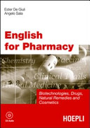 English for Pharmacy  Con CD Audio
